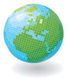 Globe in the form of a disco ball. Vector illustration Stock Illustration