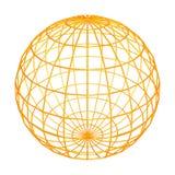 Globe frame. Sphere wire frame Royalty Free Stock Photos
