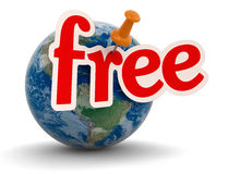Globe and free (clipping path included) Royalty Free Stock Photos