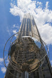 Globe in the front of Trump International Hotel and Tower at Columbus Circle in Manhattan Royalty Free Stock Photo