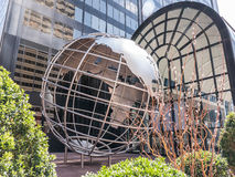 Globe in front of Willis Tower, Chicago Stock Photo