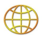 Globe géométrique d'or Photos libres de droits