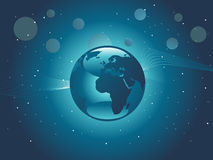 Globe in the galaxy, wallpaper Royalty Free Stock Photography