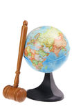 Globe and Gavel Stock Image