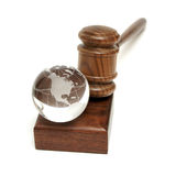 Globe and Gavel Royalty Free Stock Photography