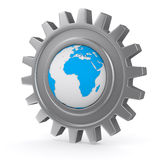 Globe into gear Royalty Free Stock Photography