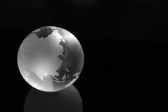 Globe glacial Photographie stock