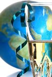 Globe and glass Stock Photos