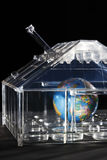 Globe in glass house Stock Image