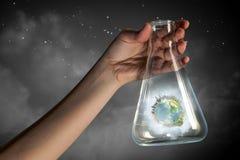 Globe in glass tube Stock Image