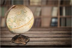 Globe. Education earth map world map terrestrial planet Royalty Free Stock Image