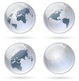 Globe glossy balls Royalty Free Stock Photos