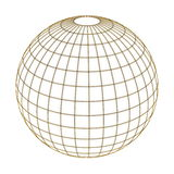 Globe in gold net Stock Photo