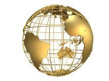 globe golden Στοκ εικόνα με δικαίωμα ελεύθερης χρήσης