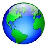 Globe gras 2 Photos stock