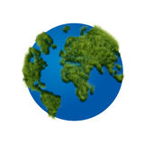 The globe with grass Stock Images