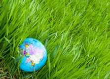 Globe in  grass Royalty Free Stock Image