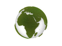 Globe with grass continents. Isolated on a white background royalty free illustration