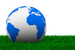 Globe on grass Royalty Free Stock Photos