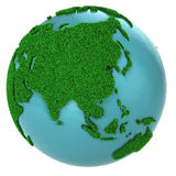 Globe of grass and water, Asia part Stock Images