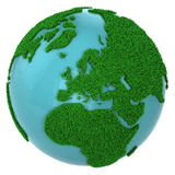 Globe of grass and water, Europe part Royalty Free Stock Photography