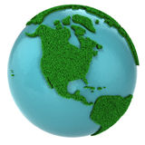 Globe of grass and water, North America part Royalty Free Stock Photos