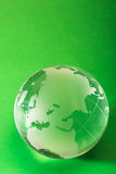 Globe on green Stock Image