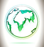 Globe green abstract icon Royalty Free Stock Photo