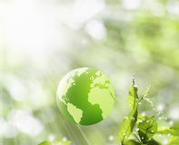 Globe green concept Stock Photo