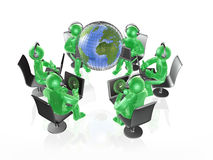 Globe and green mans Stock Image