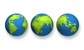 Globe of green planet Royalty Free Stock Photo