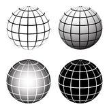 Globe grid Royalty Free Stock Photography