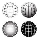 Globe grid. Digital effect colourful globe on isolated background Royalty Free Stock Photography