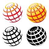 Globe grid Stock Image