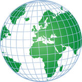 Globe with Grid Royalty Free Stock Images