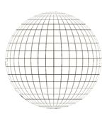 Globe with grid. Globe with a coordinate grid, latitude and longitude on a sphere pattern globe angering the application of the coordinate vector template vector illustration