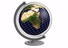 Globe with a grid Stock Image