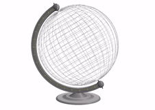 Globe with grid Royalty Free Stock Photography