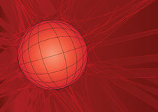 Globe grid red royalty free illustration