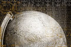 Globe with grunge effect. Globe with abstract effect royalty free illustration