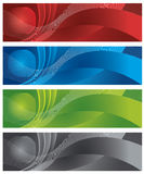 Globe and halftone digital banners Stock Photos
