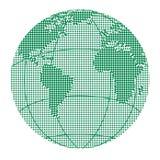 Globe halftone dots Royalty Free Stock Image