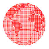 Globe halftone dots Royalty Free Stock Photo