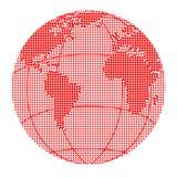 Globe halftone dots Royalty Free Stock Photo