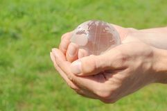 Globe in the hand Royalty Free Stock Images