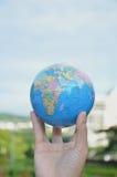 Globe on hand. Environment concept Royalty Free Stock Photos