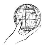Globe in hand Stock Image