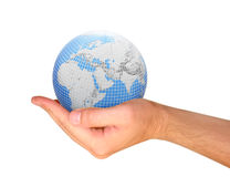 Globe in the hand Royalty Free Stock Photos