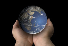 Globe in Hand Stock Image
