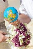 Globe in hand Royalty Free Stock Photos